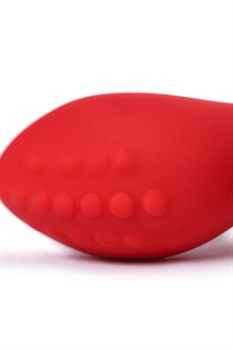 Красный вибростимулятор простаты  Штучки-дрючки  - 12,5 см.