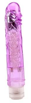 Фиолетовый вибратор Glitters Boy - 26,5 см.