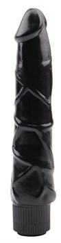 Черный вибратор-реалистик Ignite Vibrating Cock - 21,5 см.