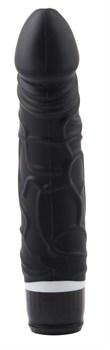 Черный вибратор-реалистик Thick Realistic Dildo - 19,5 см.