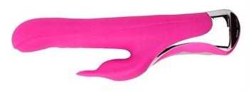 Ярко-розовый вибратор-кролик Missile Rabit - 23,5 см.