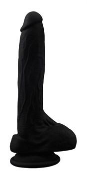 Черный фаллоимитатор Moocher - 20 см.