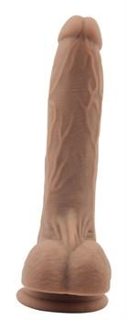Коричневый фаллоимитатор Moocher - 20 см.