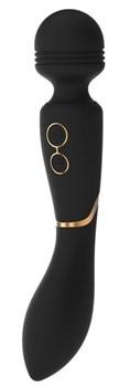 Черный жезловый вибромассажер Celine - 22,4 см.