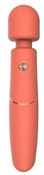 Оранжевый вибромассажер Clarissa - 22,6 см.