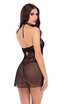 Эффектное кружевное платье с трусиками-стрингами