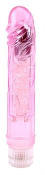 Розовый вибратор Glitters Boy - 26,5 см.