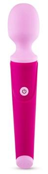 Розовый жезловый вибромассажер W4 - 19,68 см.