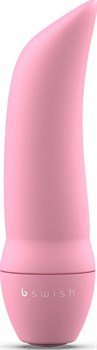 Розовая вибропуля Bmine Basic Curve - 7,6 см.