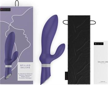 Фиолетовый вибромассажер простаты Bfilled Deluxe - 21 см.