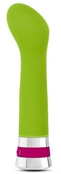 Лаймовый вибромассажер Hue G - 16,5 см.