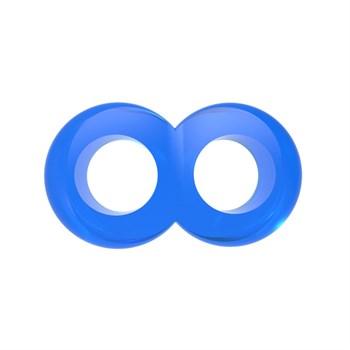 Синее эрекционное кольцо-восьмерка Duo Cock 8 Ball Ring
