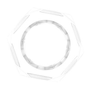 Прозрачное эрекционное кольцо-шестигранник Nust Bolts Cock Ring