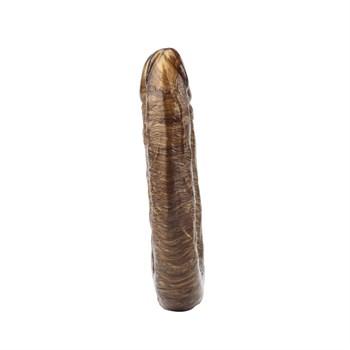 Золотистый двусторонний фаллоимитатор Dixie Normous - 34 см.