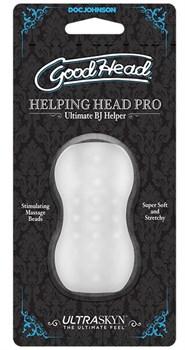 Прозрачный мини-мастурбатор Helping Head Pro
