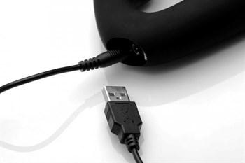 Черный безремневой страпон Tri-Volver Rechargeable Strapless Strap On