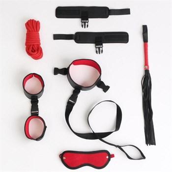 Черно-красный эротический набор из 7 предметов