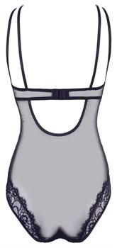 Эффектное полупрозрачное боди с чашками на косточках