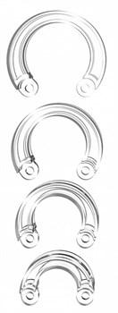 Набор дополнительных прозрачных колец для поясов верности