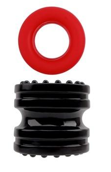 Широкое эрекционное кольцо с утяжкой Hard-on Ring Set