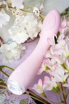 Нежно-розовый вибратор PPP SHIO-PRO - 21 см.
