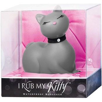 Серый массажёр-кошка I Rub My Kitty с вибрацией