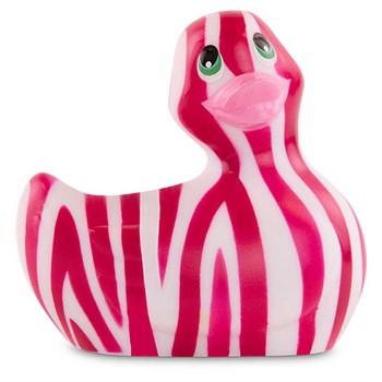 Вибратор-уточка I Rub My Duckie 2.0 Wild с розово-белым анималистическим принтом