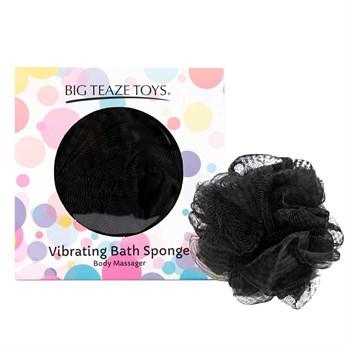 Черная губка для ванны с вибропулей Vibrating Bath Sponge