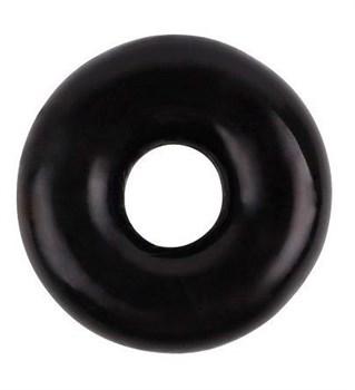 Черное эрекционное кольцо Fat O Cock Ring #1