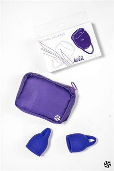 Набор из 2 синих менструальных чаш Iris