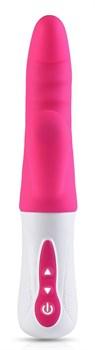 Ярко-розовый стимулятор-кролик Punch G - 23,7 см.