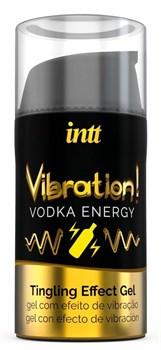 Жидкий интимный гель с эффектом вибрации Vibration! Vodka Energy - 15 мл.