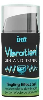 Жидкий интимный гель с эффектом вибрации Vibration! Gin   Tonic - 15 мл.