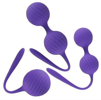 Фиолетовый набор вагинальных шариков 3 Kegel Training Balls