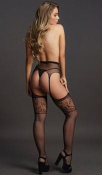Чулки на поясе Garterbelt Stockings With Lace Top