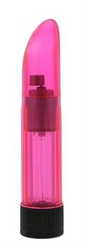 Розовый миниатюрный вибратор Crystalclear Pinki Ladyfinger - 13 см.
