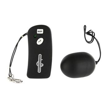 Чёрное виброяйцо с дистанционным управлением Ultra 7 Remote