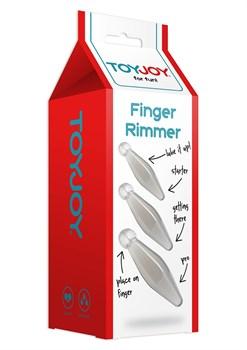Набор из трех анальных втулок Finger Rimmer
