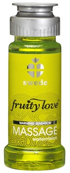 Лосьон для массажа Swede Fruity Love Massage Watermelon с ароматом арбуза - 50 мл.