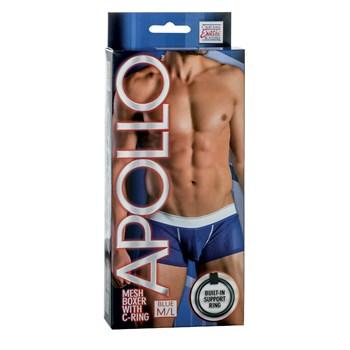 Мужские трусы-боксеры Apollo Mesh Boxer with C-Ring с эрекционным кольцом