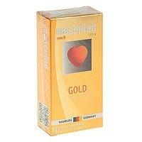 Презервативы Masculan Ultra Gold с золотым напылением и ароматом ванили - 10 шт.