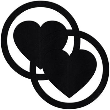 Чёрные пестисы Round Hearts в форме сердечек в круге