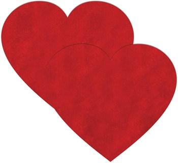 Красные пестисы-сердечки на грудь