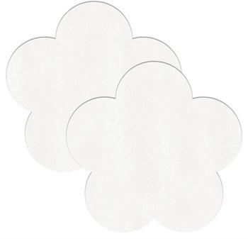 Белые пестисы-цветочки для бюста