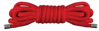 Красная нейлоновая верёвка для бандажа Japanese Mini - 1,5 м.