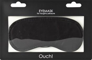 Чёрная плотная маска для сна и любовных игр