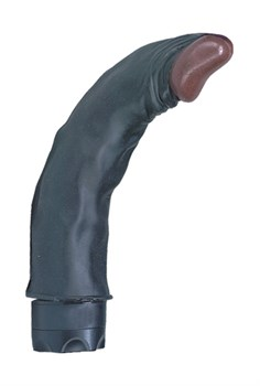 Чернокожий гнущийся вибратор WICKED WINSTON - 19 см.