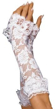Ажурные перчатки с цветочным узором