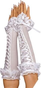 Перчатки со шнуровкой и оборками