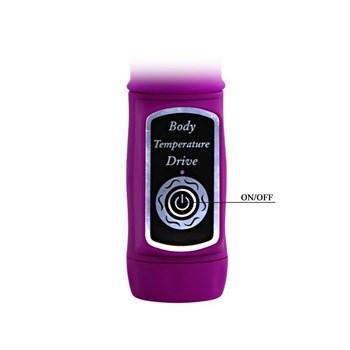 Лиловый вибратор Body Touch II с реакцией на прикосновения - 22 см.